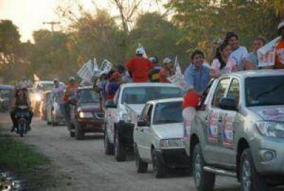 """Unión por Chaco: caravana contra """"los Moreno del Chaco"""" en el Departamento Bermejo"""