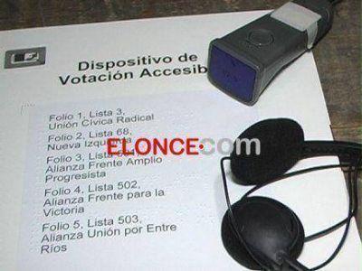 Presentaron un dispositivo para que disminuidos visuales puedan votar en estas elecciones