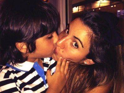 Gianinna Maradona pasó el Día de la Madre con su hijo Benjamín
