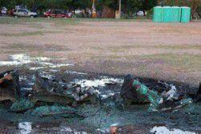 Incendiaron baños químicos del acto de Unión por Chaco en la Laguna Argüello