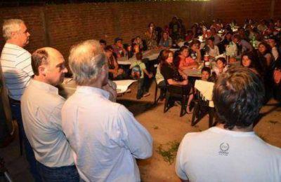 Fabián Ríos encabezó encuentros barriales junto a Rubín y Meixner