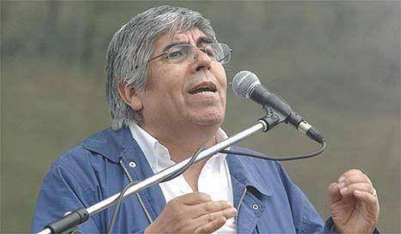 """Hugo Moyano: """"Per�n no nos ense�� a estatizar"""""""
