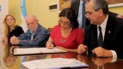 Rubricaron convenio de adhesión del Programa de Gestión Integral de Residuos Sólidos Urbanos