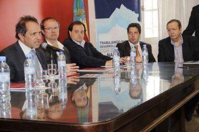 En San Miguel, Scioli defendi� el rol de las pymes