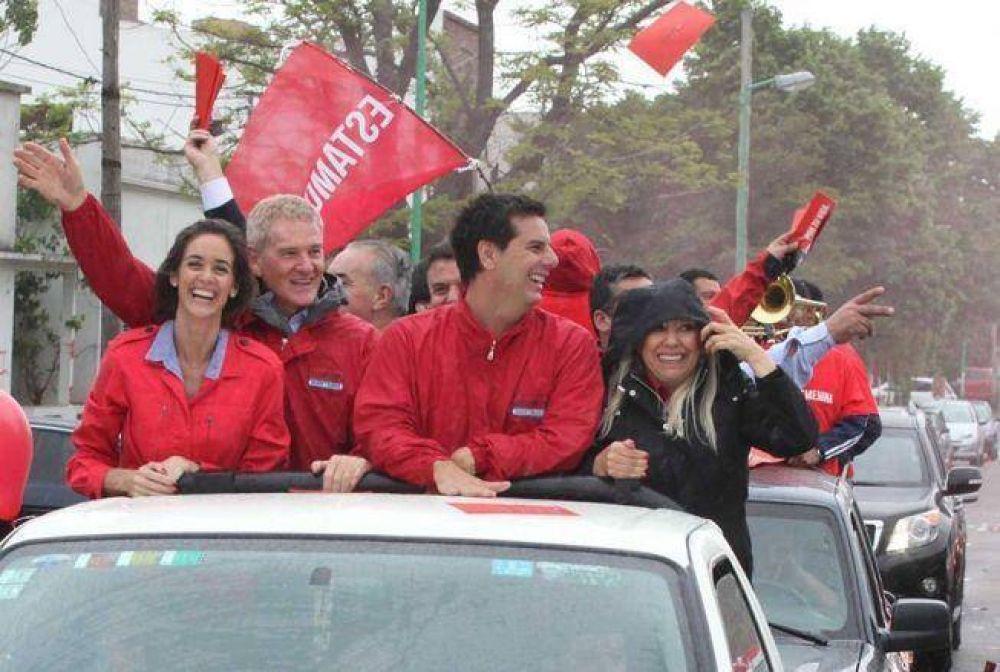 Caravana de De Narváez en La Plata