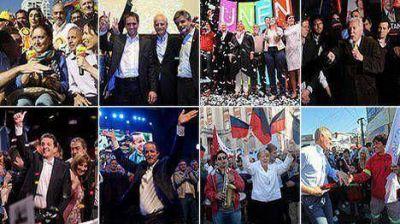 Con actos y caravanas, los candidatos cerraron las campañas para el domingo