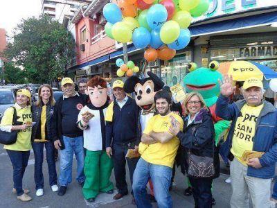 El PRO de San Isidro cerró su campaña en Martínez centro