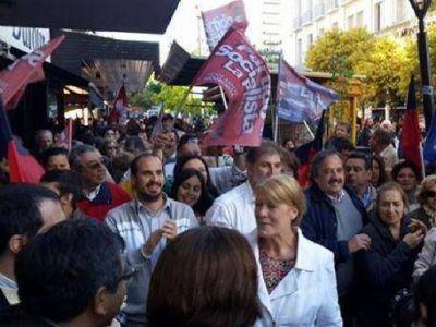 Margarita Stolbizer y Ricardo Alfonsín cerraron su campaña en la ciudad de La Plata