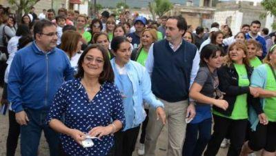 El FV cerró la campaña con caminatas en los barrios