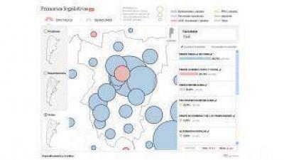 El mapa del interior, tras las PASO, les muestra a los candidatos sus puntos fuertes y débiles