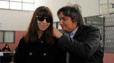 Florencia y M�ximo votaron. El hijo de la presidenta habl� y dijo que extra�a a su padre