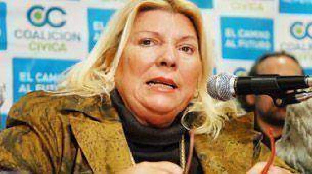 """Carrió alertó sobre la """"favelización"""" y el """"narcotráfico"""" en la Capital"""