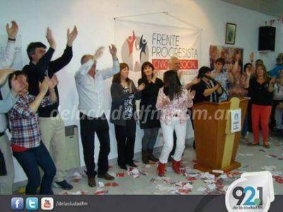El Frente Progresista festejó en el Comité de la UCR