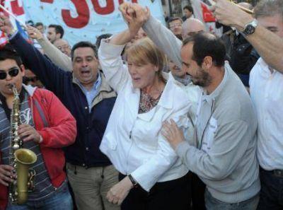 Festejos y alegr�a en el Frente Progresista de La Plata