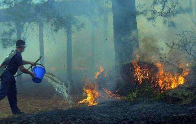 Controlan incendio que amenazó a viviendas en La Granja