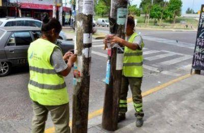 Realizan una limpieza post electoral en San Fernando