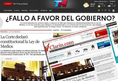 Cómo dio Clarín la noticia de la Ley de Medios