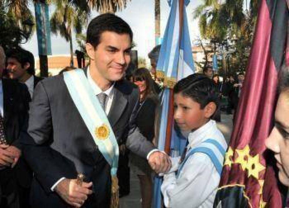Urtubey presidió el acto del 25 de Mayo en Rosario de Lerma