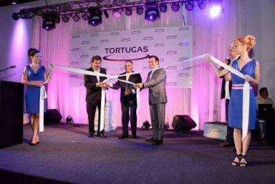 """Cariglino estuvo presente en la inauguración de """"Tortugas Eventos"""""""