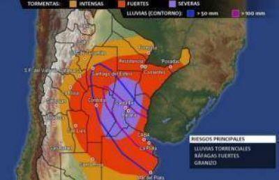 Tormenta: Suspenden actividades y se mantiene el alerta