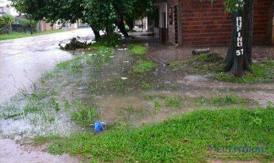 Tras las lluvias los barrios volvieron a la normalidad