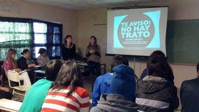 Con denuncias: se llevaron a cabo talleres de prevención de Trata y Explotación sexual