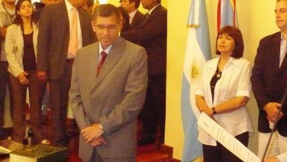 Corpacci tomó juramento a Morales y a Ferreyra