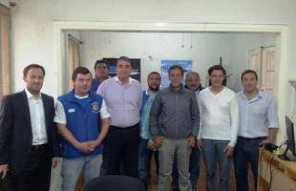 Cheyllada se reunió con representantes de gremios portuarios