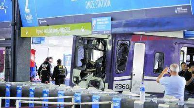 Harán pericias al tren que chocó en la estación de Once