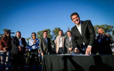 Massa e intendentes aliados firmaron un convenio para combatir la inseguridad