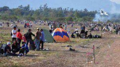 Más de 60 okupas acampan desde ayer en terrenos que usurparon en Libertador General San Martín