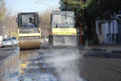 Corte de calzada por obra de pavimentación