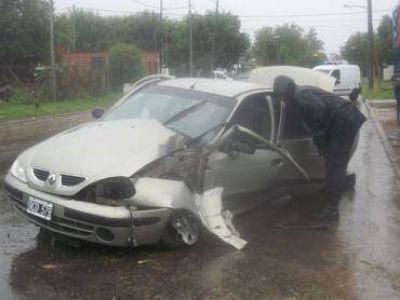 Cinco accidentes ocurrieron ayer por la mañana