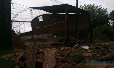 Temporal dejó a Sauce sin luz, casas dañadas e inundados en Caseros, Juan Pujol y Mocoretá