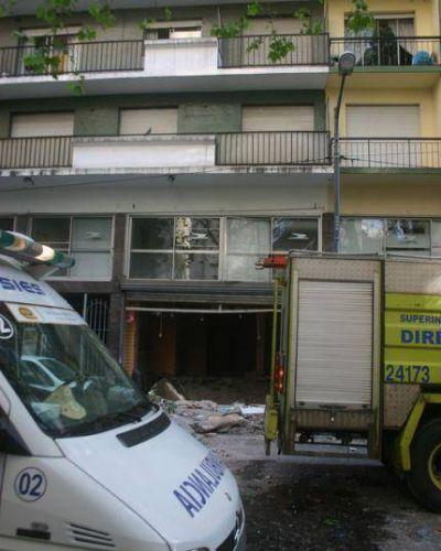 El edificio quedó inhabilitado y desde la Comuna brindaron hospedaje a los damnificados