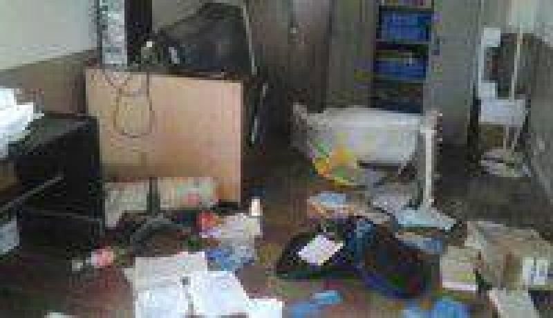 Graves daños ocasionaron miembros de ATE en el municipio de Pampa Blanca