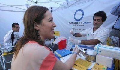 Diabetes: Vidal convocó a los vecinos a realizarse controles gratuitos