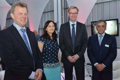 Cariglino acompañó la inauguración de una nueva sede del Grupo Volvo