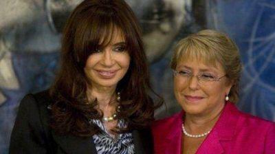 Cristina felicitó a Bachelet por el resultado de las elecciones