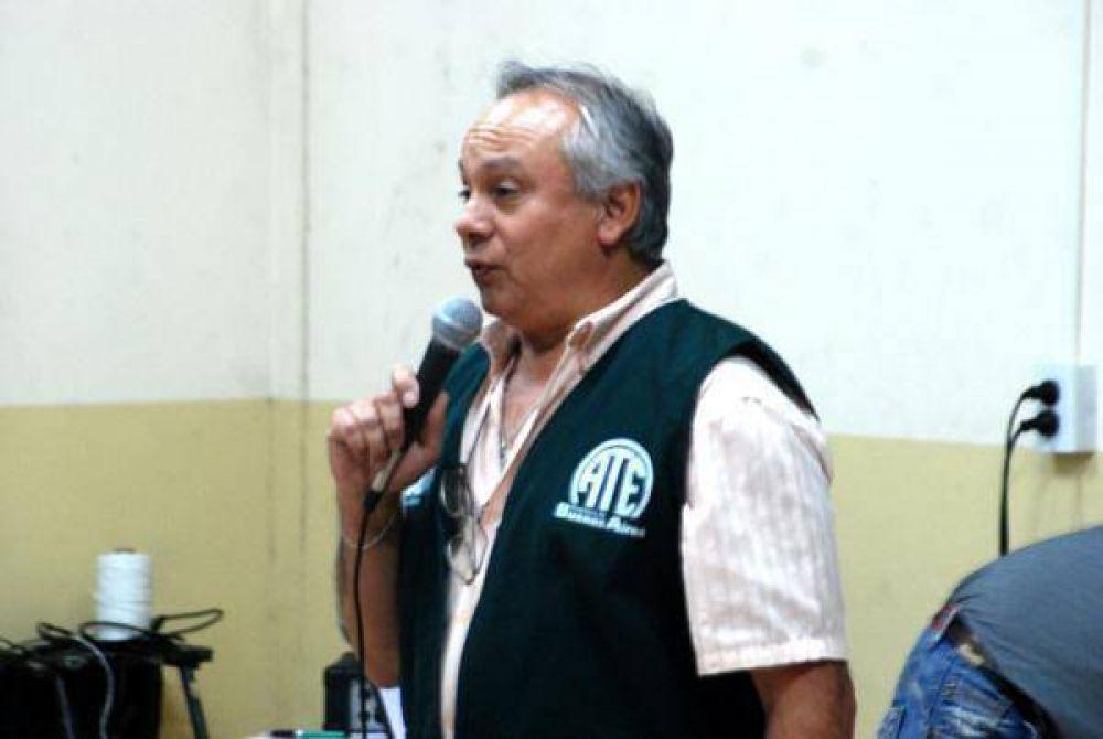 Juan Carlos Zabala adelanta los anuncios de lucha que hará ATE