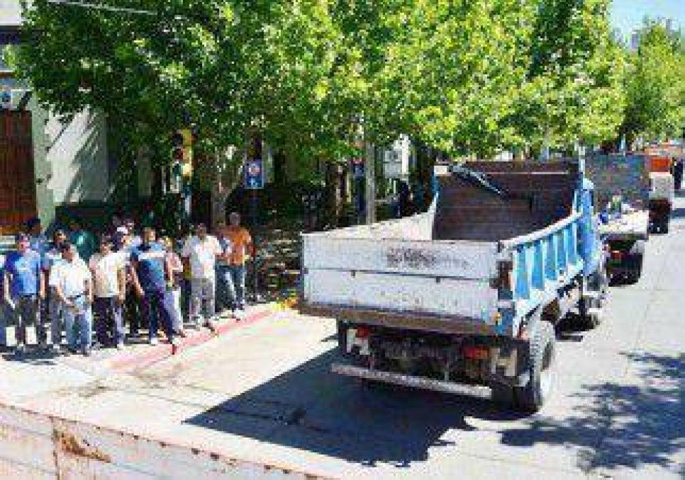 Dos manifestaciones complicaron el tránsito en el centro de la ciudad