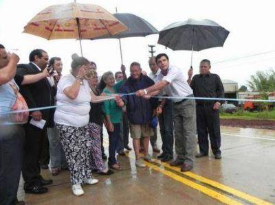 Inauguraron otro tramo del acceso a Santo Tomé