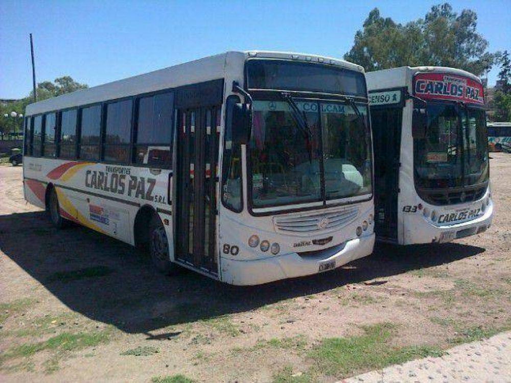 Choferes extendieron el paro en el Transporte Carlos Paz