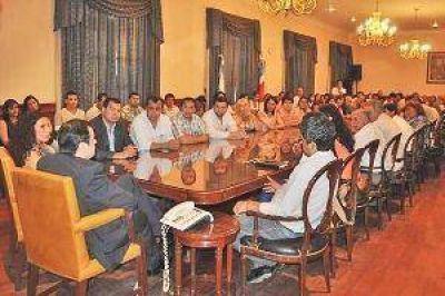 Masivo apoyo de funcionarios y dirigentes del interior a la fórmula del FC